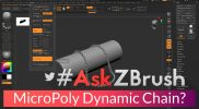 "#AskZBrush – ""How can I make a chain with MicroPoly and Dynamics?"""