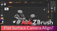 "#AskZBrush – ""Is it possible to align the camera to a flat surface on my model?"""