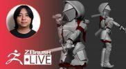 [JA] ZBrush 2021 で剣士キャラを作ろう – Pixologic Daisuke – Part 6