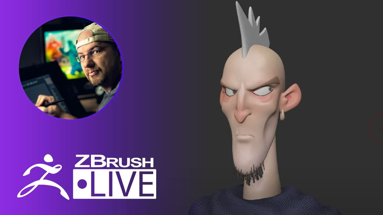 Create a Stylized 3D Mohawk Character #withme – Shane Olson – Part 2