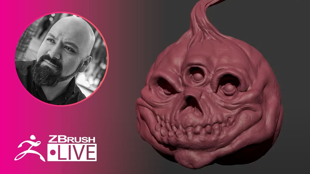 Creating a Jack-o'-Latern on the Fly with ZBrush! – Miguel Guerrero