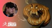 Enter the ZBHO Dojo: Jack-o'-lantern Sculpting – Spicer McLeroy – ZBrush 2021