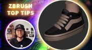 Making Cool Sneakers Using Extract ZRemesh and ZModeler – ZBrush Top Tips – Deryck Pelegrini
