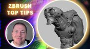 Creating Clean Topology using Booleans, ZRemesher and ZModeler – ZBrush Top Tips – Stephen Anderson
