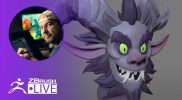 Sculpting a Stylized Krampus Character in ZBrush ! – Shane Olson – Part 2