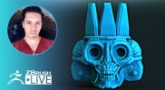 Concepting a 3D Aztec Head – Creature & Character Creation – Óscar Trejo – ZBrush 2021