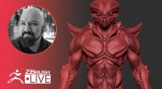 Creating an Alien Creature on the Fly with ZBrush! – Miguel Guerrero – Part 1