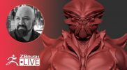 Creating an Alien Creature on the Fly with ZBrush! – Miguel Guerrero – Part 3