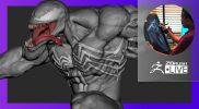 Mike T Artworks: 3D Sculpting Venom – Mike Thompson – ZBrush 2021.6