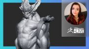 "Creature & Character Concept Sculpting – Ashley A. Adams ""A_Cubed"" – ZBrush 2021.6"