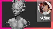 [RU] Создание стилизованных персонажей: Elf Character Design – Olya Anufrieva – ZBrushCoreMini