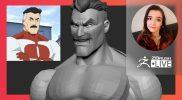 """Creating Omni-Man Fan Art – Ashley A. Adams """"A_Cubed"""" – ZBrush 2021.6"""