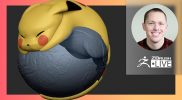 No Spare Time with SMAARTIST: Pokémon Pikachu – Stephen Anderson – ZBrush 2021.6