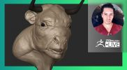 [ES-MX] Creación de Criaturas & Personajes: Buffalo Bison Man Hybrid  – Óscar Trejo – ZBrush 2021