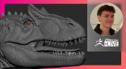 Organic Character & Creature Sculpting: Allosaurus Jurassic Dinosaur – Luc Tschopp – ZBrush 2021.6