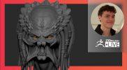 Organic Character & Creature Sculpting: Predator Movie Fan Art – Luc Tschopp – ZBrush 2021.6