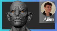 Organic Character & Creature Sculpting: Orc Design – Luc Tschopp – ZBrush 2021.6