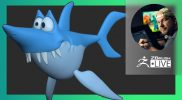 Cartoon Shark 2D Concept to 3D – Shane Olson & Mitch Leeuwe – ZBrush 2021.6