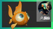 Adorable Cartoony Goldfish Character – Shane Olson – ZBrush 2021.6