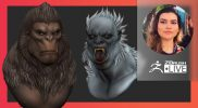 [PT-BR & EN] Bigfoot From Ana's Cryptid TikTok Series – Ana Carolina Pereira – ZBrush 2021.6