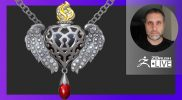 Sculpting Organic Jewelry Designs with ZBrush: Sacred Heart Pendant – Nacho Riesco Gostanza