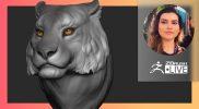[PT-BR & EN] Sculpting, VR & Positivity: Tigers  – Ana Carolina Pereira – ZBrush