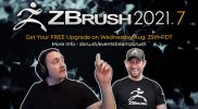 ZBrush 2021.7 Special Event Stream – New Version Available Now!!