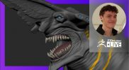 Organic Character & Creature Sculpting: Knifehead Kaiju Pacific Rim – Luc Tschopp – ZBrush 2021.6