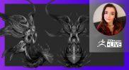 """Creature & Character Concept Sculpting – Ashley A. Adams """"A_Cubed"""" – ZBrush 2021.6"""