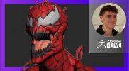 Organic Character & Creature Sculpting: Marvel's Carnage Fan Art – Luc Tschopp – ZBrush 2021.6