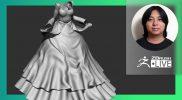 ZBrush 2021.7 LIVE New Version! Designing a Victorian Dress Female Character – Daisuke Narukawa