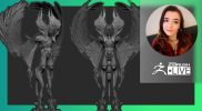 """Creature & Character Concept Sculpting – Ashley A. Adams """"A_Cubed"""" – ZBrush 2021.7"""
