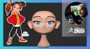 Cartoon Female 2D Concept to 3D – Shane Olson & Luigi Lucarelli – ZBrush 2021.7