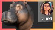 Sculpting, VR & Positivity: Hippo Animal Sculpture – Ana Carolina Pereira – ZBrush 2021.7