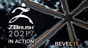 ZBrush 2021.7 In Action! – Bevel It With the New Bevel Brushes! Now Available!