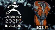 ZBrush 2021.7 In Action! – Slice It With the New Knife Brushes! Now Available!