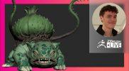 Organic Character & Creature Sculpting: Pokémon Bulbasaur Fan Art – Luc Tschopp – ZBrush (Reupload)