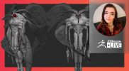 """Creature & Character Concept Sculpting: Moth Man – Ashley A. Adams """"A_Cubed"""" – ZBrush 2021.7"""