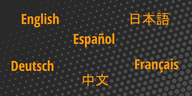 Changing Languages